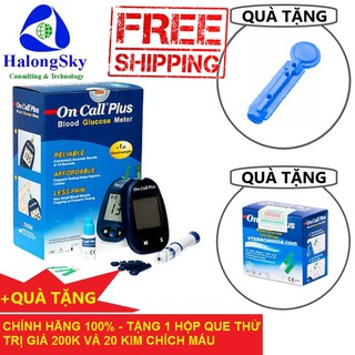 Máy đo đường huyết (tiểu đường) Acon Oncall Plus (USA) + Tặng 1 hộp 25 que thử + 20 Chiếc Kim Lấy Máu thumbnail