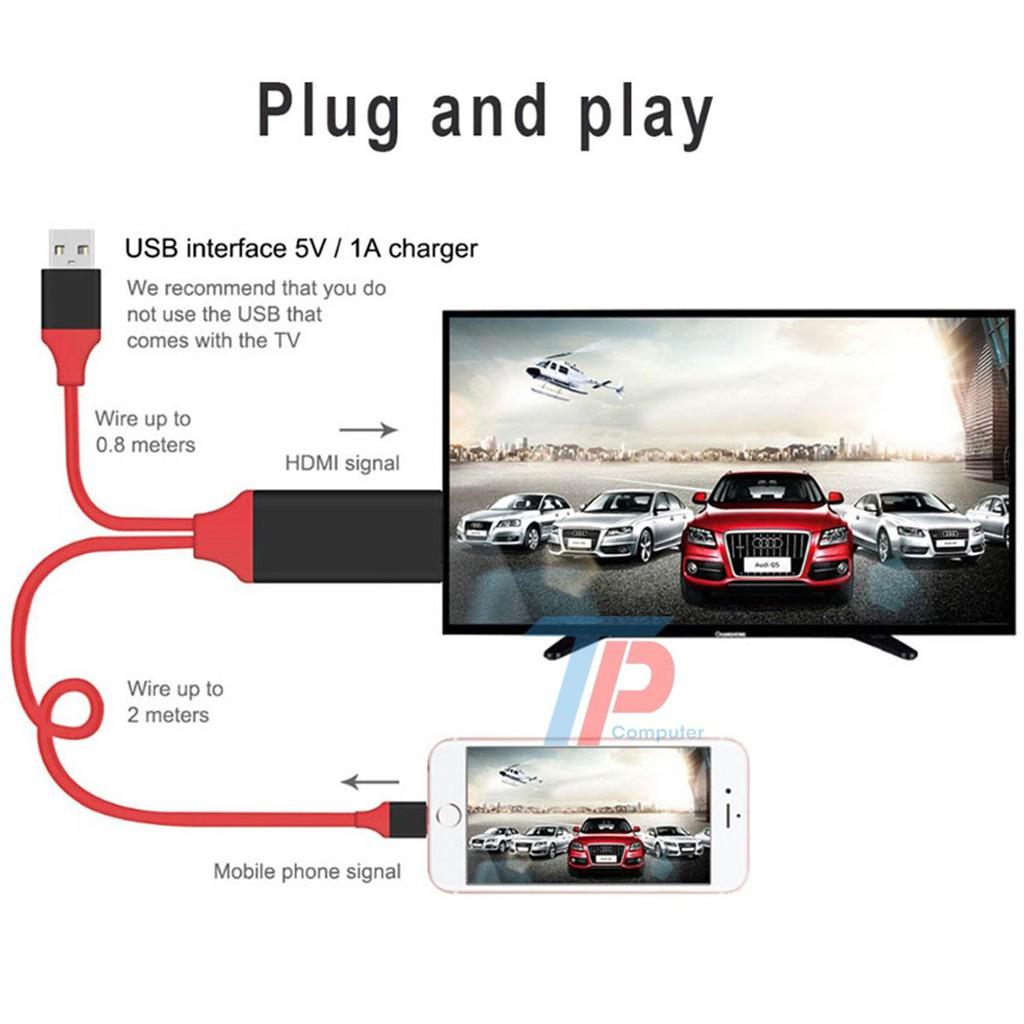 Cáp Kết nối HDMI cho iPhone, iPad (lightning to HDTV Cable)
