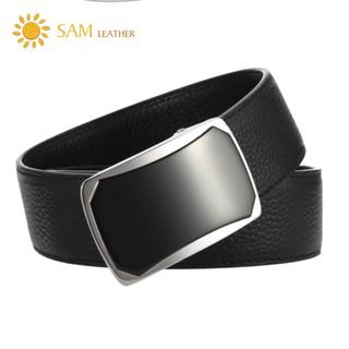 [SAM Leather] Dây Thắt Lưng Nam Da Bò Cao Cấp - Dây Nịt Nam SFDN031B -Mặt Khóa Inox 316 Nguyên Khối & Da Bò,BH 12 Tháng thumbnail