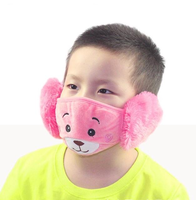 Khẩu trang bịt tai trẻ em