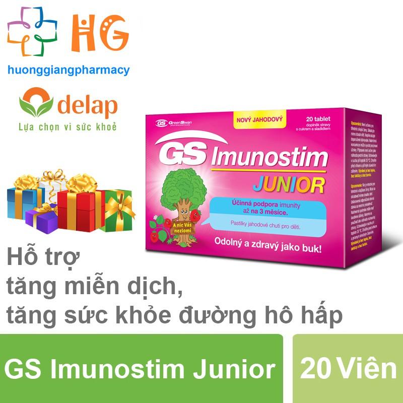 GS Imunostim Junior - Tăng cường sức khỏe đường hô hấp (Hộp 20 Viên)