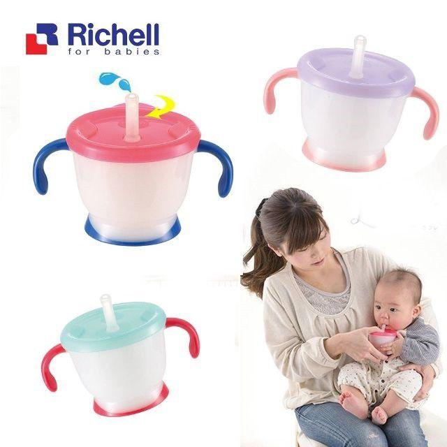 Cốc tập uống 3 giai đoạn Richell (Hàng chính hãng)