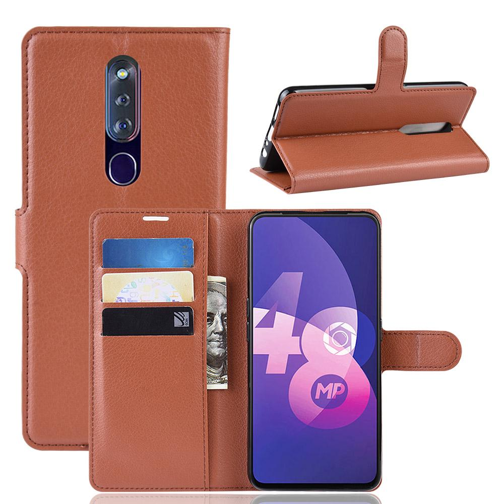 Oppo F11 / F11 Pro Luxury Wallet Flip Leather Case Cover With Stand Card Slots