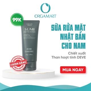 Sữa Rửa Mặt Deve Men Sumi Facial Wash Than Hoạt Tính Charcoal Dành Cho Nam (tuýp 130g) thumbnail
