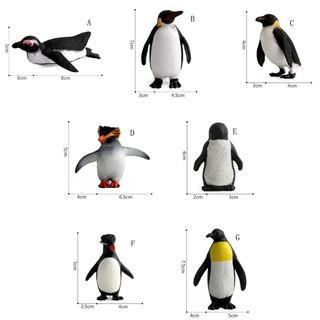 ღBLIღ Action Figure Penguin Ocean Animal Model Kids Educational Simulation Models [FS]