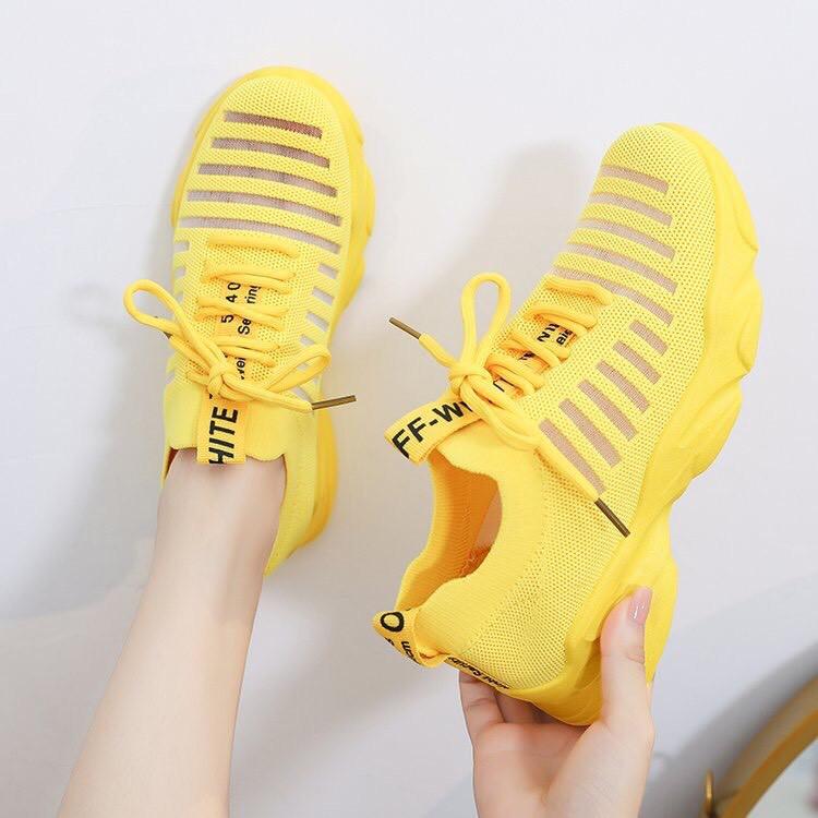 Giày nữ cổ chun cao cấp lưới thoáng hàng mới hót 2019 đế cao su bền đẹp mã A02