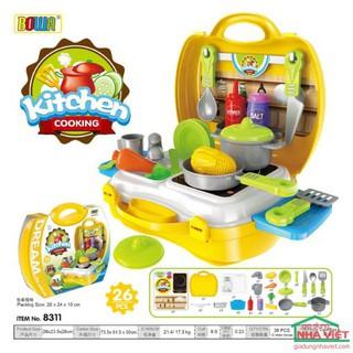 Bộ đồ chơi nấu ăn Bowa Kitchen Cooking cho bé
