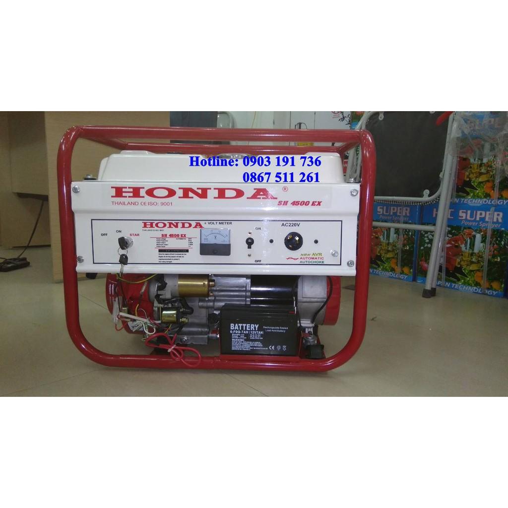 Máy phát điện Honda SH 4500 EX đề nổ động cơ chính hãng Honda nhập khẩu