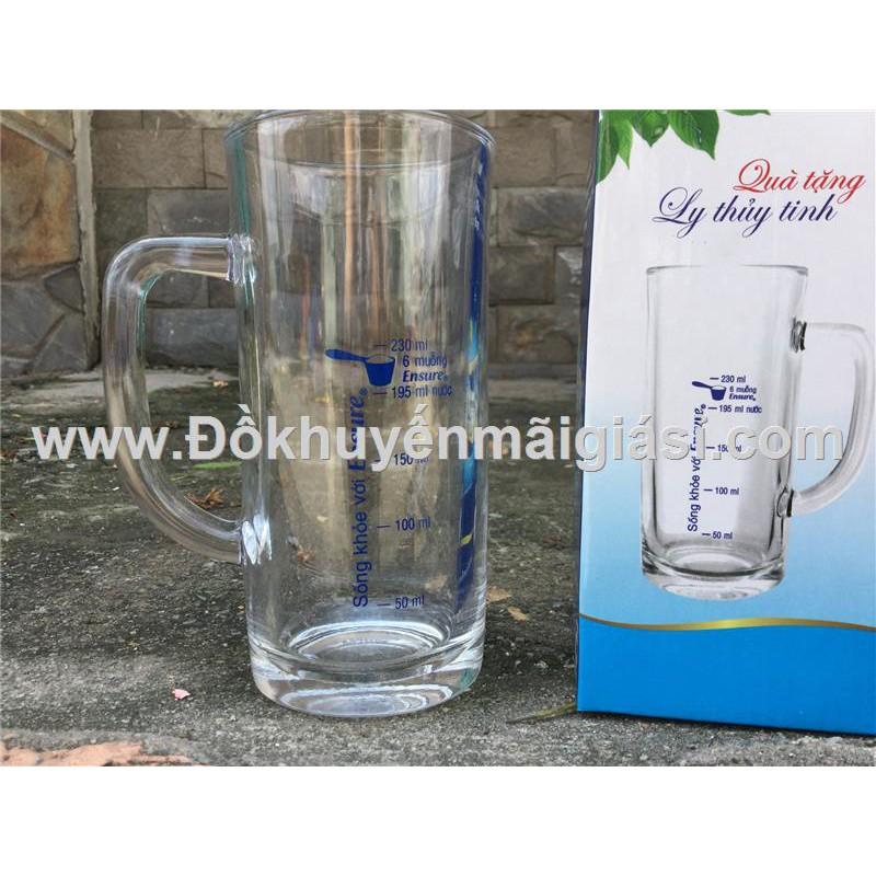 Ly quai thủy tinh Uinon có vạch chia dung tích - Sữa Ensure tặng - 3351151 , 1277810968 , 322_1277810968 , 16000 , Ly-quai-thuy-tinh-Uinon-co-vach-chia-dung-tich-Sua-Ensure-tang-322_1277810968 , shopee.vn , Ly quai thủy tinh Uinon có vạch chia dung tích - Sữa Ensure tặng