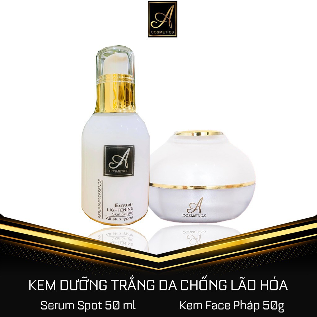 Combo Kem Face Pháp + Serum Spot 💎Dưỡng Trắng Da Mềm Mịn Căng Bóng, Ngừa Lão Hoá💎Mỹ phẩm Phương Anh Acosmetics