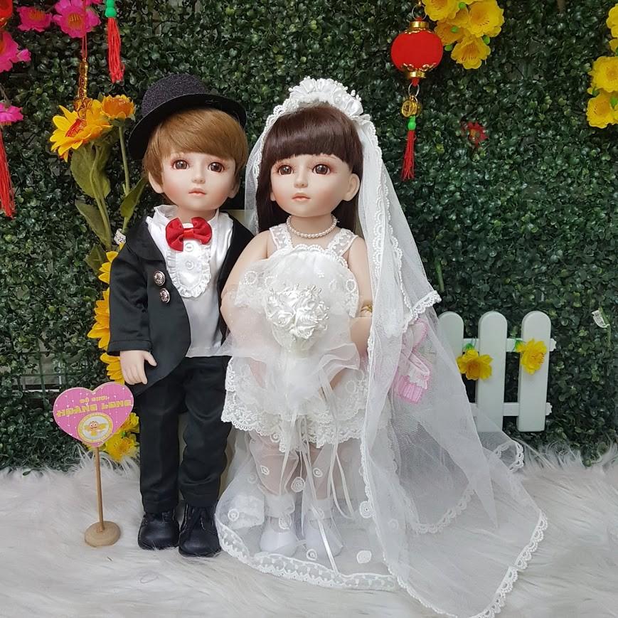 Cặp Búp bê BJD cô dâu, chú rể có khớp 45cm - Couple American Doll NPK 18 inch - 3469739 , 865165955 , 322_865165955 , 1500000 , Cap-Bup-be-BJD-co-dau-chu-re-co-khop-45cm-Couple-American-Doll-NPK-18-inch-322_865165955 , shopee.vn , Cặp Búp bê BJD cô dâu, chú rể có khớp 45cm - Couple American Doll NPK 18 inch