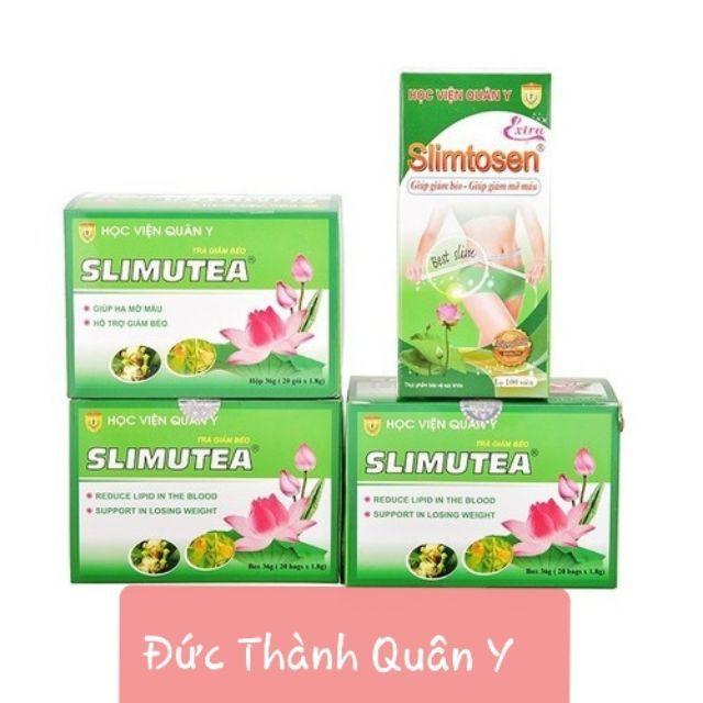 Bộ Giảm Cân 1 Slimtosen Extra + 3 Trà Slimutea Học viện Quân Y