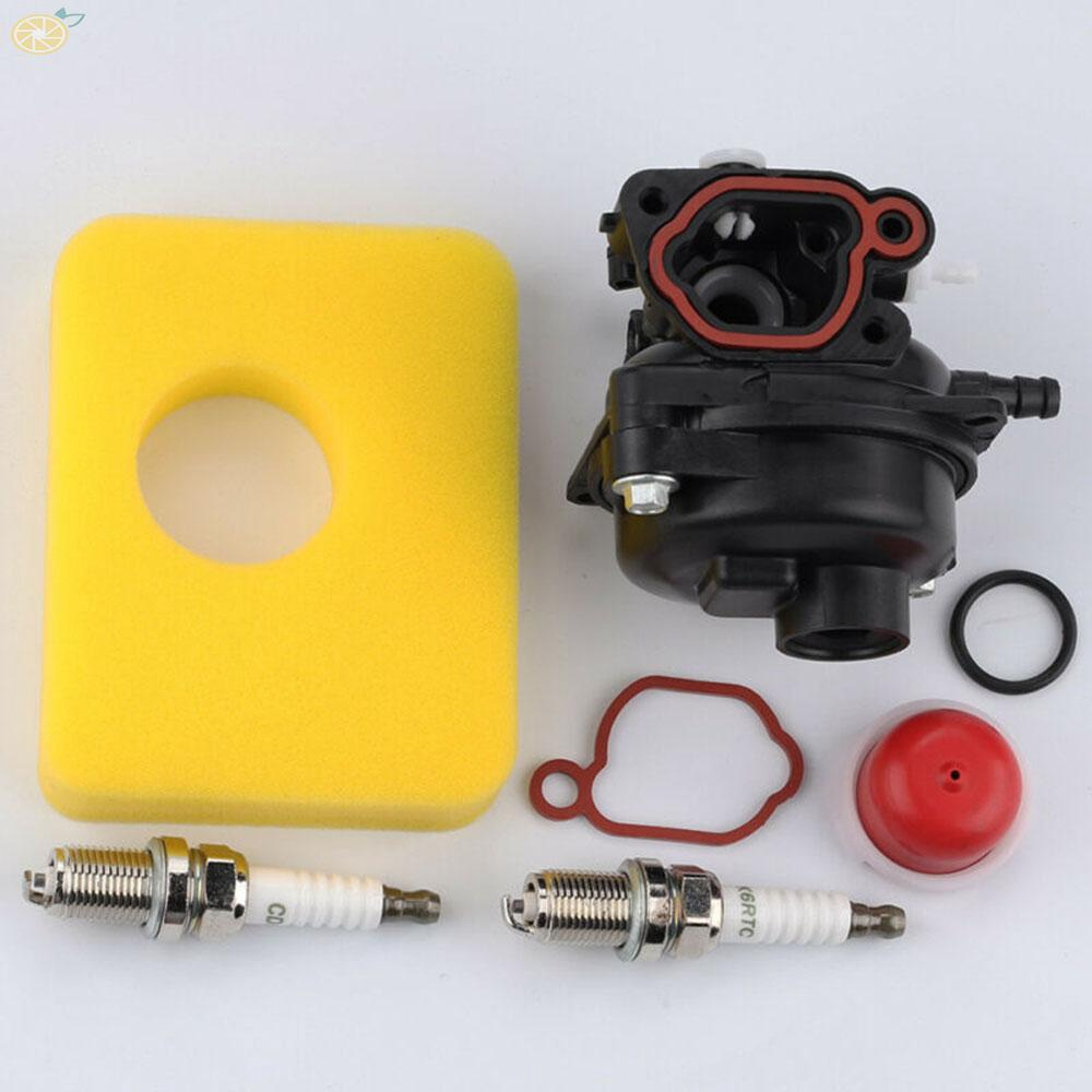 Carburetor kit Part O Ring Air filter Primer bulb Spark plugs Gasket For 09P702 590556 Engine Replacement Durable