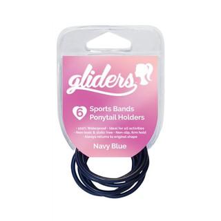 Bộ 4 dây cột tóc cao su dùng bơi lội thể thao Gliders đen, nâu, hồng, xanh dương đậm thumbnail