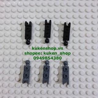 COMBO 5 Gạch Khớp 1×2 Có 1 Đầu Đực 1 Đầu Cái NO.404 – Phụ Kiện MOC