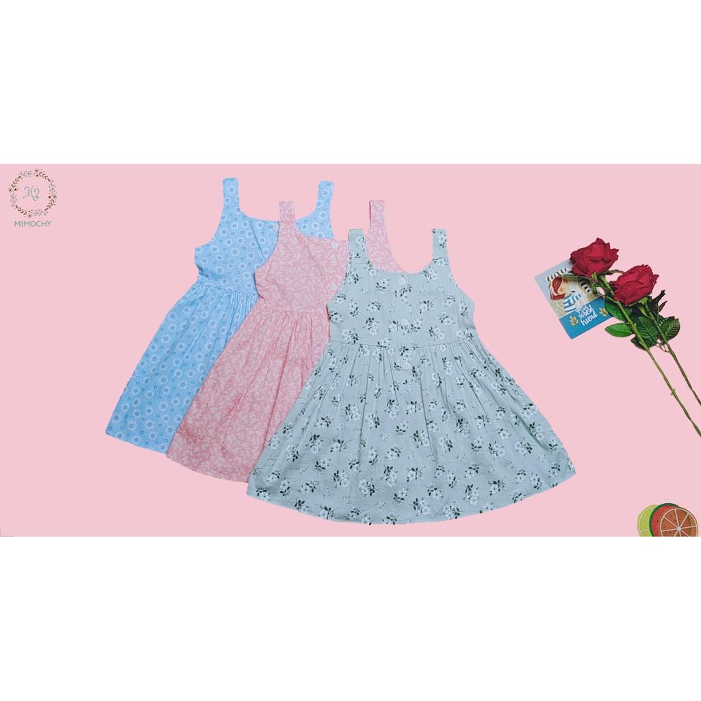 Váy hoa nhí không cổ khoét nách M2 MIMOCHY A004
