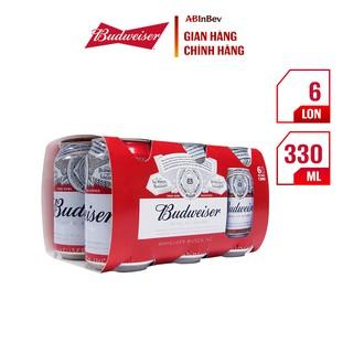 Bia Budweiser – King of Beer lốc 6 lon (330ml/lon)