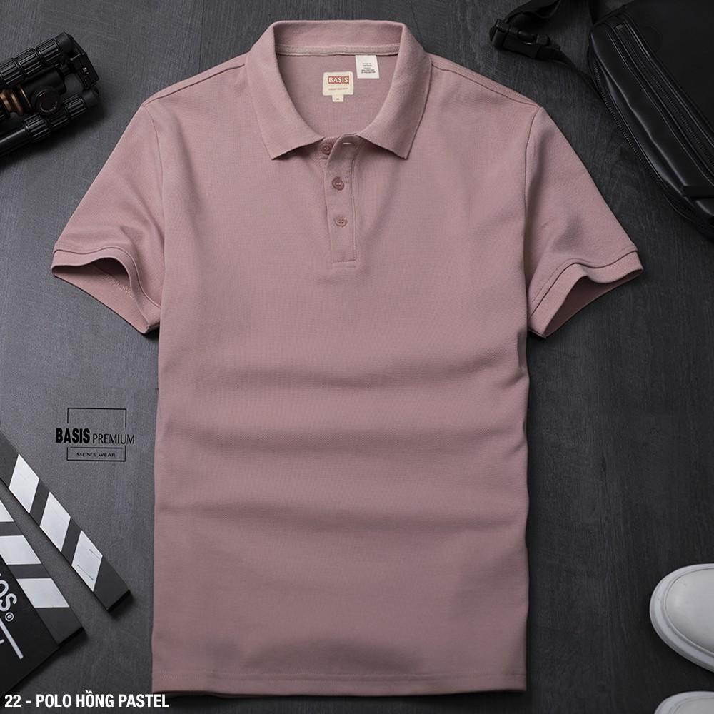 Áo thun Polo cổ bẻ nam trơn màu Pastel Premium - Hàng cao cấp, chất lượng, giá tốt