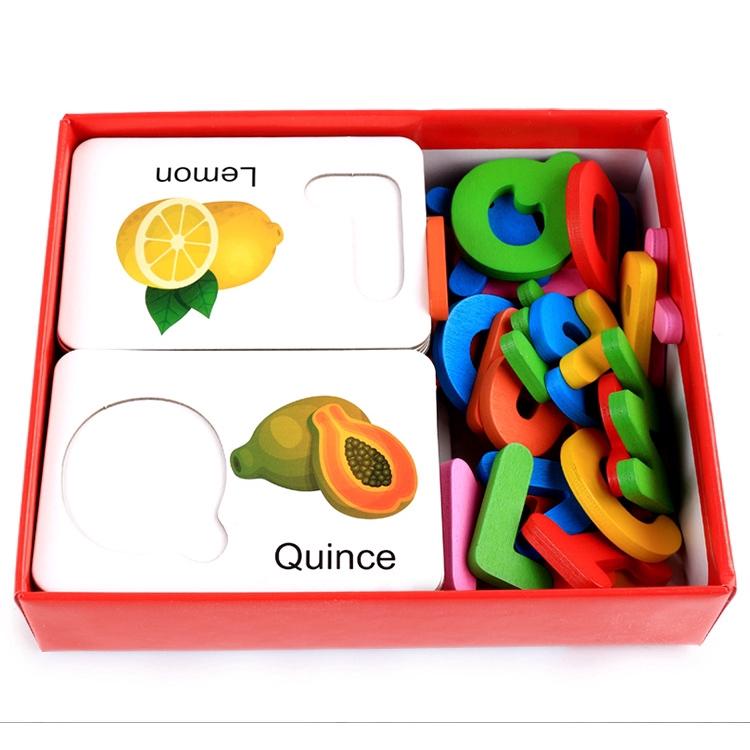 FTR Early Education Baby Learning ABC Alphabet Letter Cards Educational Toys