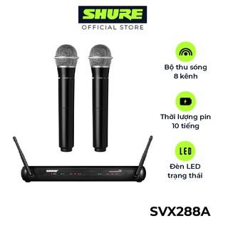 Bộ micro không dây Shure SVX288A/PG28 - Hàng chính hãng - Micro Shure cao cấp cho phòng trà và Karaoke