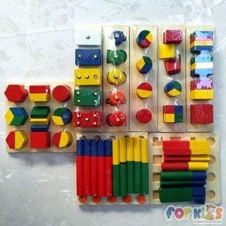 Bộ Giáo Cụ Montessori Đồ Chơi Học Toán 8 món cho bé ( mẫu 2)