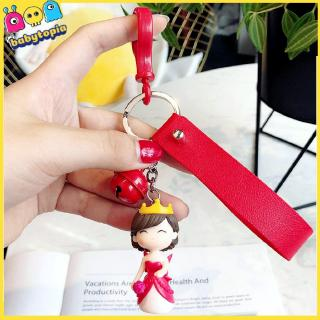 Cute Couple Doll Key Ring Pendant Creative Cartoon 3d Doll Car Key Chain