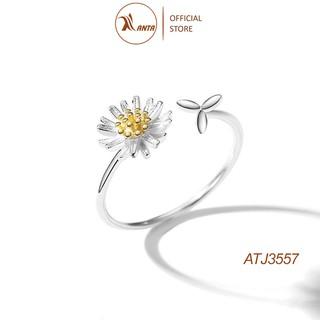 Nhẫn bạc nữ hình hoa hướng dương kích thước có thể điều chỉnh sành điệu cho nữ ANTA Jewelry - ATJ3557 thumbnail