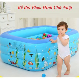 Bể bơi 3 tầng 130 cm , Kèm Bơm Bể