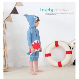 (có sẵn) đồ bơi liền cho bé trai hình cá mập