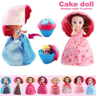 1pc Cup Cake Doll Mini Deformable Pastry Princess Gift Toys for Kids Girls