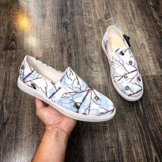 Giày lười nam vải in 3d