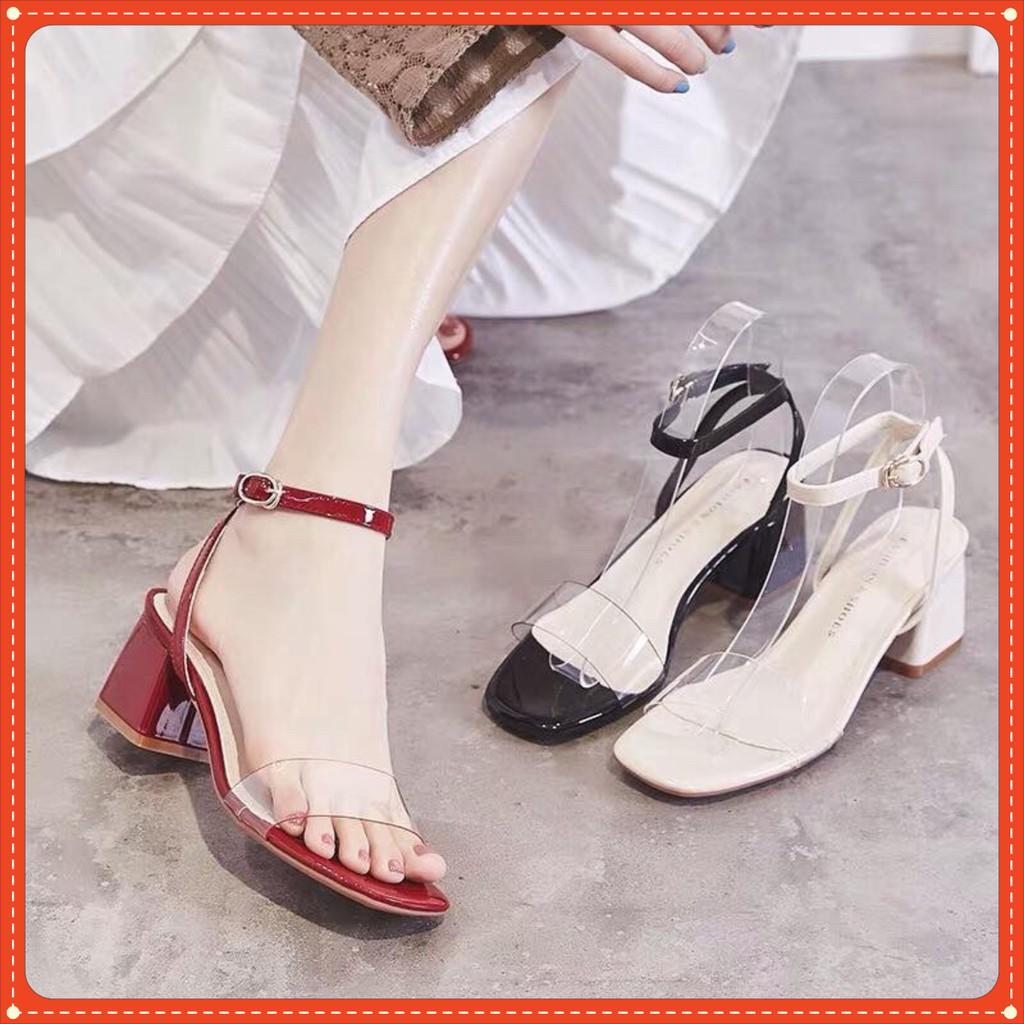 Giày sandan quai Trong hở gót 5p mã S5