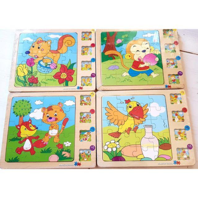 [Đồ chơi cho bé] Truyện tranh gỗ ghép hình 4 lớp _Shop phụ kiện 899