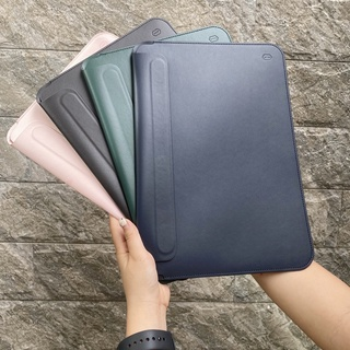Bao Da WIWU Skin Pro II mỏng nhẹ, chống thấm cho MacBook 13 – 15inch (Đen/Navy/Hồng/Green)