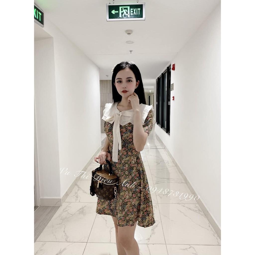 Váy Hoa Thắt Nơ ⚜️FREESHIP⚜️ Đầm Hoa Công Chúa Sang Chảnh Ulzzang Hot 549