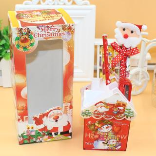 Christmas stationery pen holder set Creative Christmas school supplies Children's student Christmas gift prizes