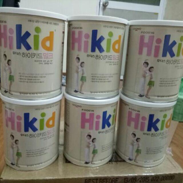 Sữa Hikid vani nội địa Hàn Quốc 600gr (Date tháng 10/2019)