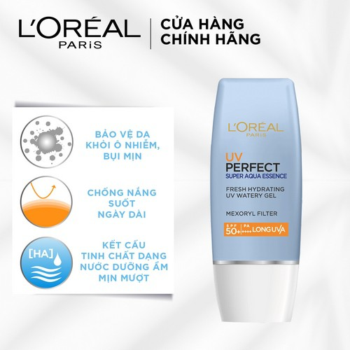 Kem Chống Nắng LOreal Paris UV Perfect Aqua Essence SPF50+ PA++++ 30ml, Giá  tháng 9/2020