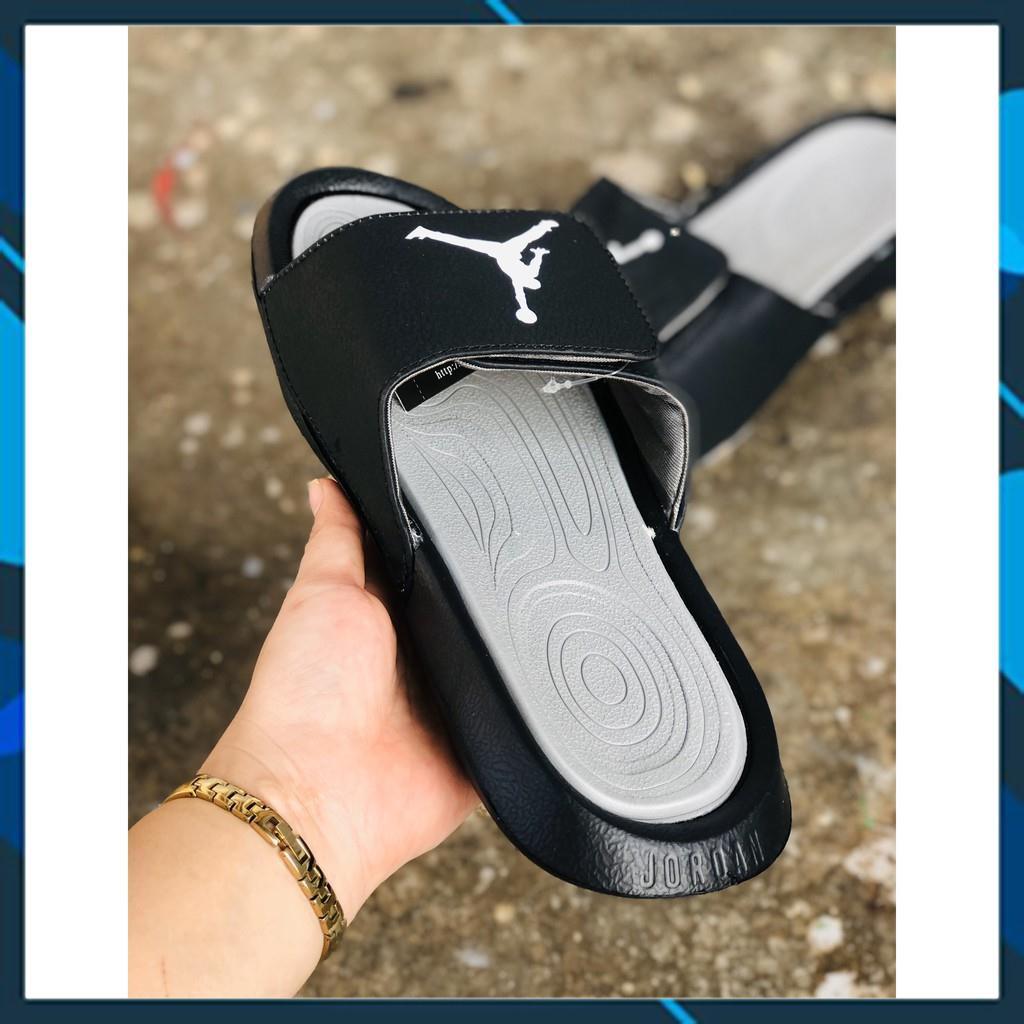 [Tặng Hộp + Freeship] DÉP Jordan 6 QUAI NGANG ĐEN - XÁM