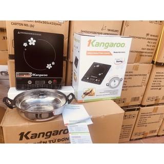 Bếp từ đơn phím cơ Kangaroo KG 20IH1 công suất 2000W tặng kèm nồi