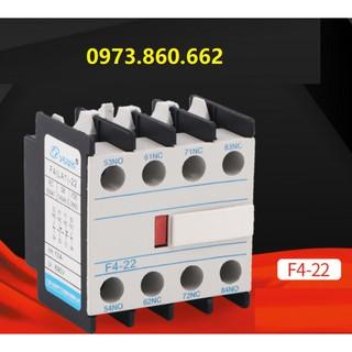 Tiếp điểm phụ 2NO 2NC F4-22 ( LA-22) gắn trên contactor thumbnail
