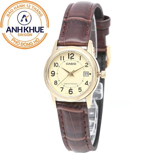Đồng hồ nữ dây da Casio Anh Khuê LTP-V002GL-9BUDF - 3499417 , 891581562 , 322_891581562 , 713000 , Dong-ho-nu-day-da-Casio-Anh-Khue-LTP-V002GL-9BUDF-322_891581562 , shopee.vn , Đồng hồ nữ dây da Casio Anh Khuê LTP-V002GL-9BUDF
