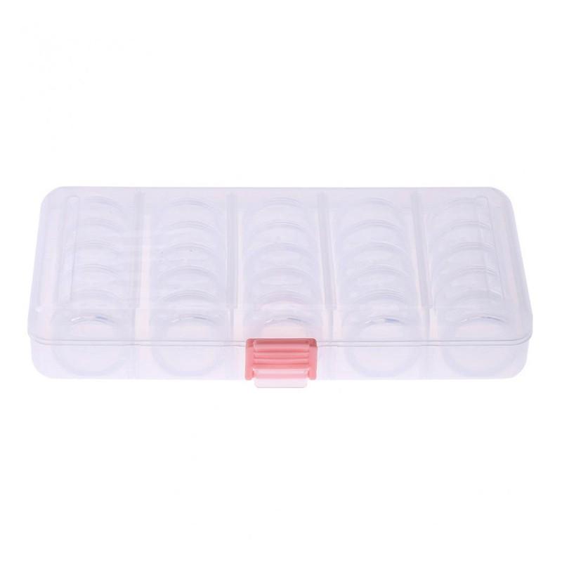 VN BUYEASY 25 Pcs Transparent color Plastic Jewelry Bead Cont Bottles Box