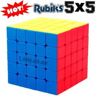 Rubik 5 đẹp xoay trơn không kẹt rít độ bền cao. Đồ chơi Rubik 5×5 MF5s 5 tầng 5x5x5 Stickerless Cube