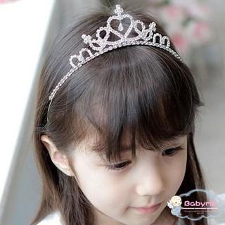 Vương miện đính đá phong cách công chúa cho bé gái thumbnail