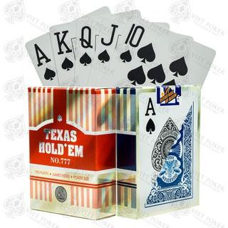 Bài nhựa Texas Hold'em 777 – Bài tây – Bài poker