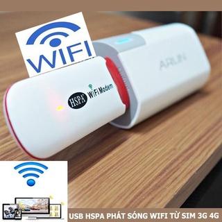 USB PHÁT WIFI HSPA SIÊU TỐC ĐỘ TỪ SIM 3G 4G PHÁT SÓNG WIFI CỰC MẠNH BẰNG SIM thumbnail