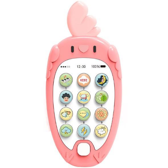 [TẶNG KÈM PIN] Đồ chơi điện thoại gặm nướu phát nhạc cho bé