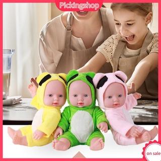 Búp bê em bé sơ sinh giống thật mặc đồ hình động vật chất liệu vinyl mềm mịn 30cm làm quà sinh nhật cho bé gái