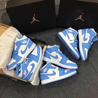 Giày Sneaker Air Jordan 1 Cao Cổ Xanh Dương Cao Cấp Full Size Nam Nữ thumbnail